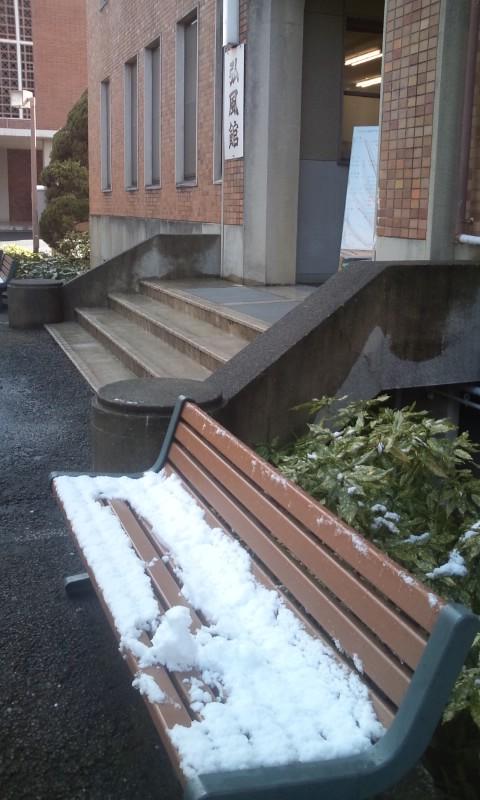 弘風館の雪だるま